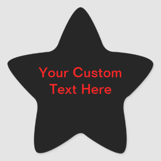 Your Custom Text Here Star Sticker