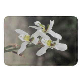 Your Custom White Orchid Large Bath Mat