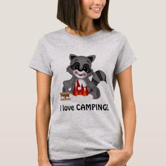 Your Custom Women's Basic T-Shirt Love Camping