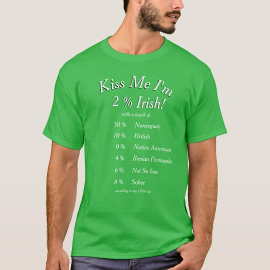 Your Customized DNA Tested Kiss Me I'm Irish! T-Shirt | Zazzle.com
