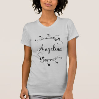 Your customized name and spring flowers tee shirt