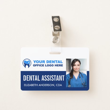 Your Dentist Office Logo Employee Photo ID Clip Badge
