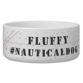Your Dog Name Nautical Florida Latitude Longitude Bowl