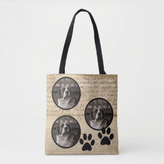 Your Dog Photo n Paws 1860 Legal Document Funny Tote Bag