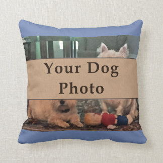Your Dog Photo Pillow, Your Colors, Text, Picture Throw Pillow