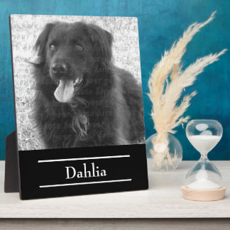 Your Dog Photo Presentation Create Your Own Plaque