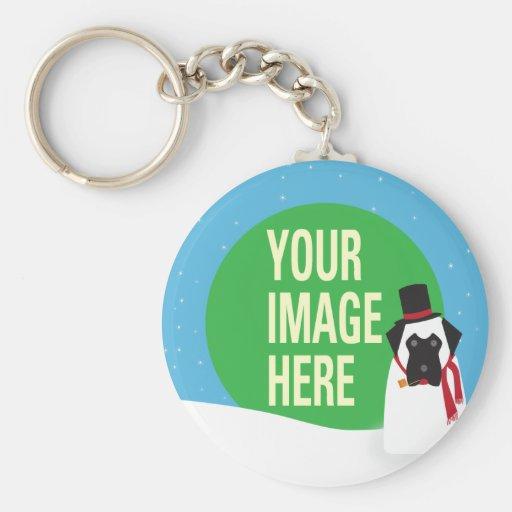 YOUR DOG Snowdog Keychain