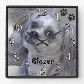 Your Doggy PHOTO and NAME Personalized Clocks