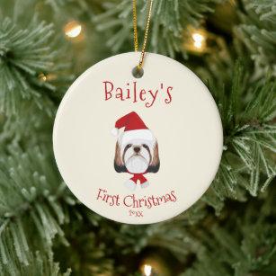 Shih Tzu Puppy Christmas Ornaments Zazzle 100 Satisfaction Guaranteed