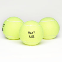 Your dog's name personalized tennis ball