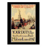 """""""Your Duty"""" - 2nd Liberty Loan Post Card"""