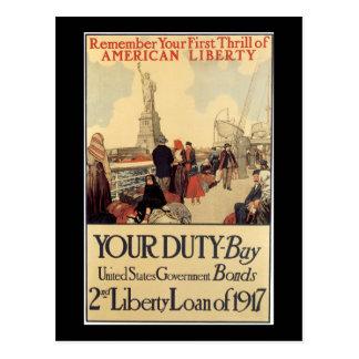 """Your Duty"" - 2nd Liberty Loan Postcard"