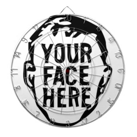 your-face-here dartboard