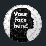 "your-face-here dartboard with darts<br><div class=""desc"">Your Picture Here 