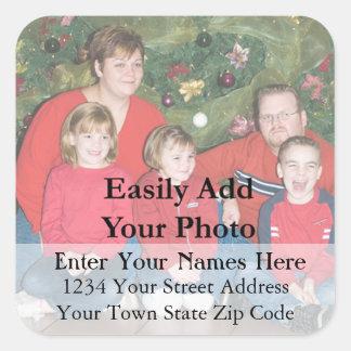 Your Family Christmas Photo Return Address Label