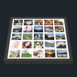 "Your Family Memories Custom 25 Photo Collage Canvas Print<br><div class=""desc"">Customized canvas wall art print with 25 of your own favorite photographs on white, with a contrasting colored border. The perfect gift for family or friends. Looks great with black and white or full color images. Use square photos for best results (great for instagram pics) but other sizes of photos...</div>"