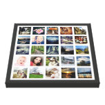 Your Family Memories Custom 25 Photo Collage Gallery Wrapped Canvas