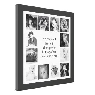 Your Family Memories Custom Photo Collage Gallery Wrap Canvas