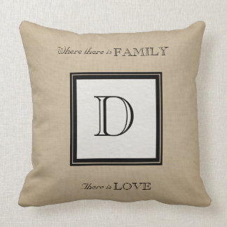 Your Family Monogram and Love Pillows