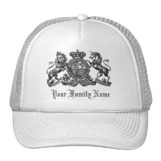 Your Family Name Customizable Crest Baseball Cap Trucker Hat