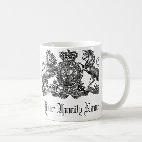 Your Family Name Customizable Crest Coffee Mug