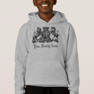 Your Family Name Customizable Crest Kids Hoodie