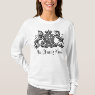 Your Family Name Customizable Crest Ladies Tee