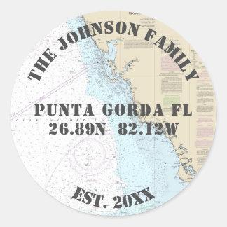 Your Family Name Florida Nautical Envelope Seals