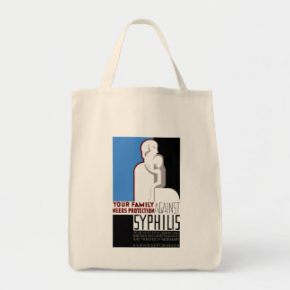 Your Family Needs Protection Against Syphilis Grocery Tote Bag
