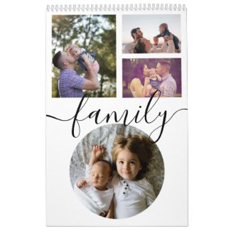 Your Family Photo Month By Month Personalized Calendar