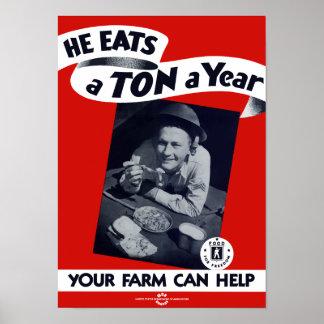 Your Farm Can Help -- WW2 Print