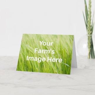 Your farm's image, your own text, your own farm card