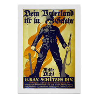 Your Fatherland is in Danger (white) Posters