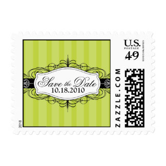 YOUR Favorite Color: Chic Deco Save the Date Stamp