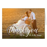 Your Favorite Wedding Photo Thank You Card