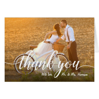 Your Favorite Wedding Photo Thank You Card at Zazzle