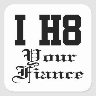 your fiance square sticker