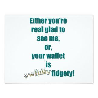 Your Fidgety Wallet Card