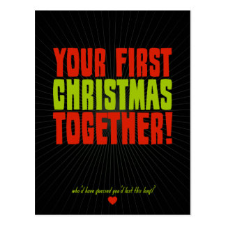 Your First Christmas Together Postcard