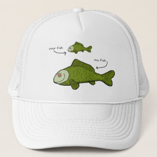 Your Fish. My Fish. Size Matters?! Trucker Hat