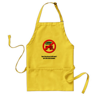 Your flag decal still won't get you into heaven adult apron