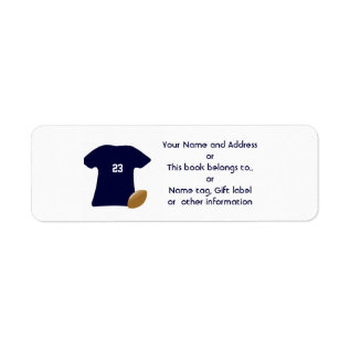 Your Football Shirt Return Address Labels at Zazzle