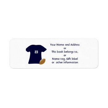 Your Football Shirt Return Address Labels by DigitalDreambuilder at Zazzle