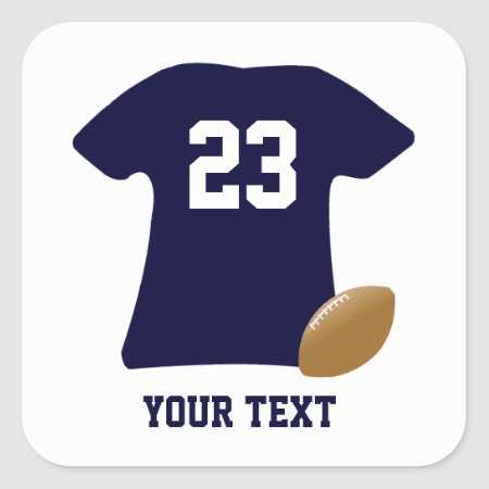 Your Football Shirt W/ American Football Stickers