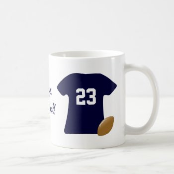 Your Football Shirt With Ball Coffee Mug by DigitalDreambuilder at Zazzle