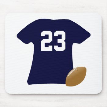 Your Football Shirt With Ball Mouse Pad by DigitalDreambuilder at Zazzle