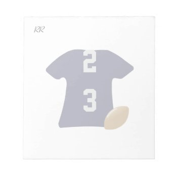 Your Football Shirt With Ball On Small Notepad by DigitalDreambuilder at Zazzle