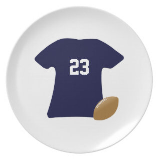 Your Football Shirt With Ball V2 Melamine Plate at Zazzle