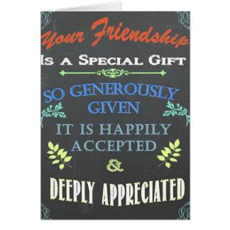 Your Friendship Chalkboard Card