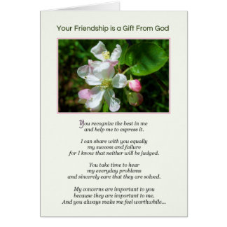 Your Friendship is a Gift from God Card